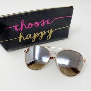 Quay | Lickety Split Sunglasses Aviator Gold Retro